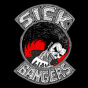 Logo empresa: sick bangers, metal label & distro