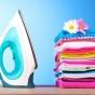 Logo empresa: lavo y plancho tu ropa