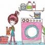 Logo empresa: lavanderia beny
