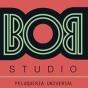 Logo empresa: bob studio, peluquería