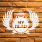 Logo empresa: peluquería my head