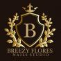 Logo empresa: breezy flores nails studio