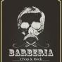 Logo empresa: barbería chop & rock