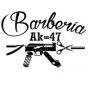 Logo empresa: barberia ak 47