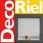 Logo empresa: decoriel, cortinas rollers y papel mural