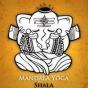 Logo empresa: mandala yoga shala. home studio