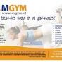 Logo empresa: mgym. pilates, yoga y zumba a domicilio