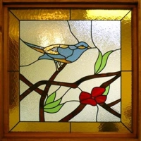 Logo empresa: flux - vitrales y vitrofusión