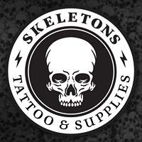 Logo empresa: skeletons (tattoo & supplies)