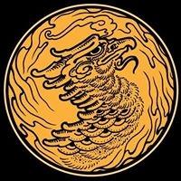 Logo empresa: golden phoenix tattoo studio