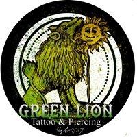 Logo empresa: green lion tattoo and piercing
