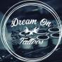 Logo empresa: dream on tattoo. estudio de tatuajes