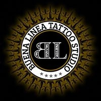 Logo empresa: buena línea tattoo studio