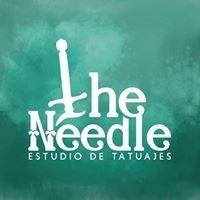 Logo empresa: the needle estudio de tatuaje
