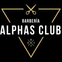 Logo empresa: alphas club barbería